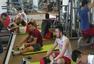 中国男篮意大利认真备战 周琦专注力量训练(图)
