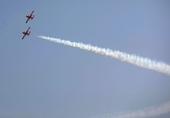 印度阳光飞行表演队表演的双机组队飞行