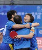 北京时间9月30日,中华人民共和国第十一届运动会冠军争夺战在青岛国信体育馆打响。最终经过七局的苦战,...