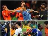 四年一届的世界杯是球员梦想的最高殿堂,为了荣誉,球员在场上挥洒汗水。当然,球场上拼抢激烈,裁判也会出...