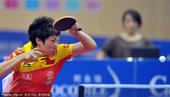 2010年11月4日,广东中山,2010亚运会女子乒乓球最后一次热身赛赛况。参加本届亚运会的郭跃、李...