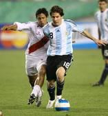 北京时间9月11日,2010年世界杯南美区预选赛阿根廷1:1平秘鲁