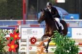 2010年11月24日,广州,2010亚运会男子现代五项赛况。