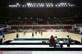 高清图:探访女篮亚洲杯比赛球馆 工人加紧布置
